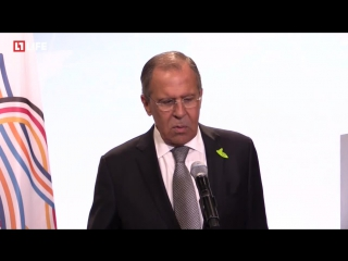 Сергей Лавров рассказывает об итогах встречи Путина и Трампа