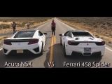 Acura NSX VS Ferrari 458 Spider