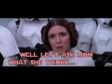 Darth Vader disciplines his daughter (rstarwarsgifs)