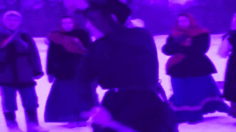 Казачий боевой танец с парными шашками