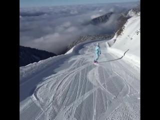 Идеальное место для сноубординга