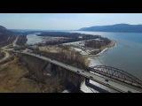 DJI Phantom 3. Самара. Река Сок. Царев курган. 9 апреля 2016.