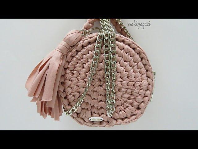 Penye ip ile messenger çanta yapımı