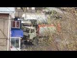 Горящий мусоровоз приехал в пожарную часть, Омск