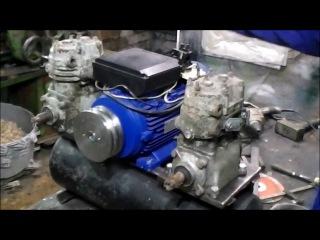 Воздушный компрессор ЗИЛ 130 в гараже. 1 часть.