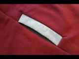 How to sew a POCKET inTROUSER in SWEATSHIRT. Jak uszy