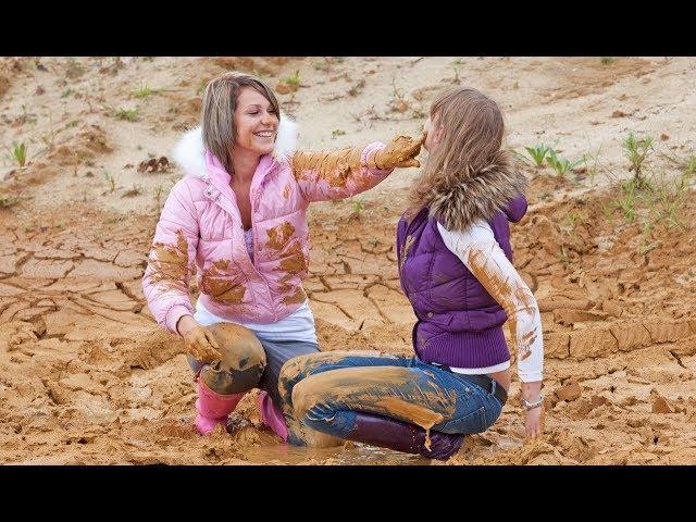 Cute Girls In Mud