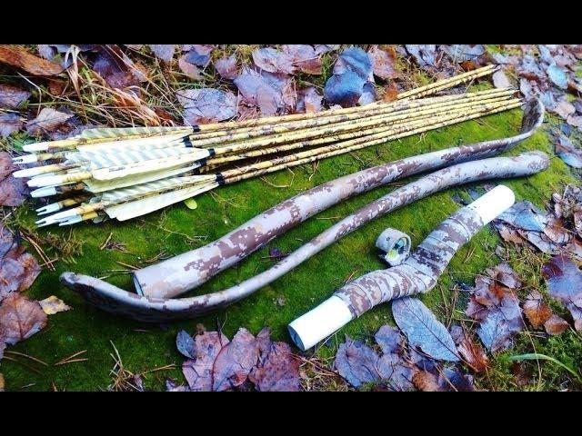 Камуфлированный лук из ПВХ трубы и его испытания на морозе rfveakbhjdfyysq ker bp gd[ nhe,s b tuj bcgsnfybz yf vjhjpt