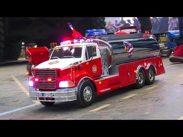 RC MODEL FIRE TRUCKS, RC CARS, RC HEAVY LOAD TRUCKS!! / Modellbau Messe Wien 2017