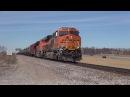 Railfanning BNSF's St. Joseph Subdivision Feat. IC 1003 2/12/2017