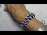 # DIY - Pulsera para el dia de la madre de perlas lilas y cristalitos