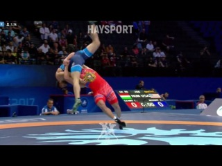 Qualif.GR - 80kg: 🇦🇲 Maksim Manukyan def. Yousef Ahmad Ghaderian 🇮🇷 10-1