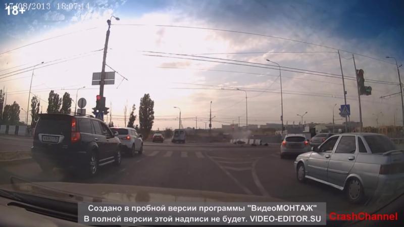 Мотоцикл ошибок не прощает - самые страшные Мото Аварии 2013