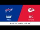 NFL 2017 / W12 / Buffalo Bills - Kansas City Chiefs / CG / EN