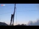 Крупный пожар в центре Омска