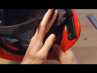 Установка гарнитуры HS-M3 на шлем пожарного