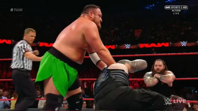 [Crossface] Сет Роллинс и Роман Рейнс против Самоа Джо и Брэя Уайатта - RAW 22.05.2017