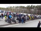 Открытие мотосезона 2017 в Перми, проезд колонны.