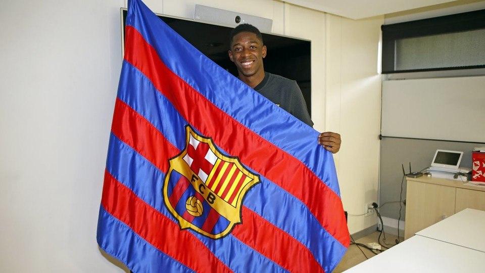 """Dembele: """"Barcelona"""" dunyoning eng yaxshi klubi"""