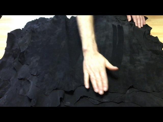 Велюр чёрный 0 9 1 0 мм сорт 2 STEFANIA Италия