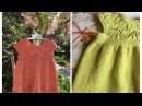 Ажурное платье для девочки с круглой кокеткой. Как я его вязала