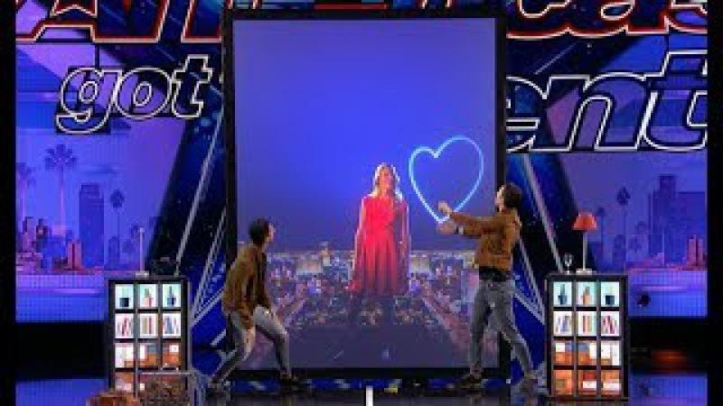 Tony Jordan - French Twins GROUNDBREAKING Hi-tech Magic!! | America's Got Talent 2017