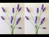 Искусственные цветы  Как сделать лаванду