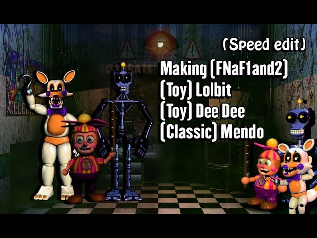 [Speed Edit] Making T. Lolbit, T. Dee Dee and Classic Mendo | FNaF1and2