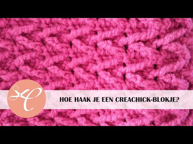 CreaChick-blokje (arrow stitch) haken tutorial