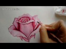 Pink Rose Painting Step-by-Step Rose Flower Painting