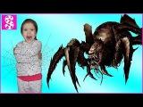 Гигантский паук атакует Bad Baby 😭 Giant Spiders Attack Вредные детки