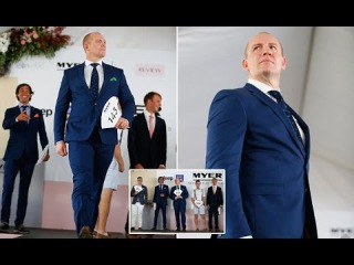 Zara Philips Accompany her Husband Mike Tindall Compete in Fashion Event at Magic Millions Race Day