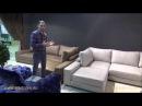 Видео обзор Угловой Диван Луиджи с шезлонгом, сравнение двух вариантов обивки