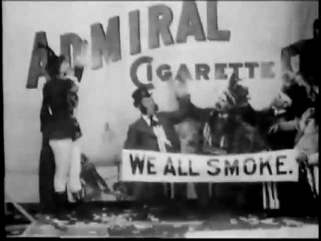 Admiral Cigarette (1897) - World's 1st Commercial on Film - William Heise | Thomas Edison