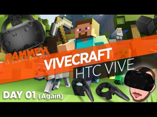 Starting again in ViveCraft | Day 01 | HTC VIVE