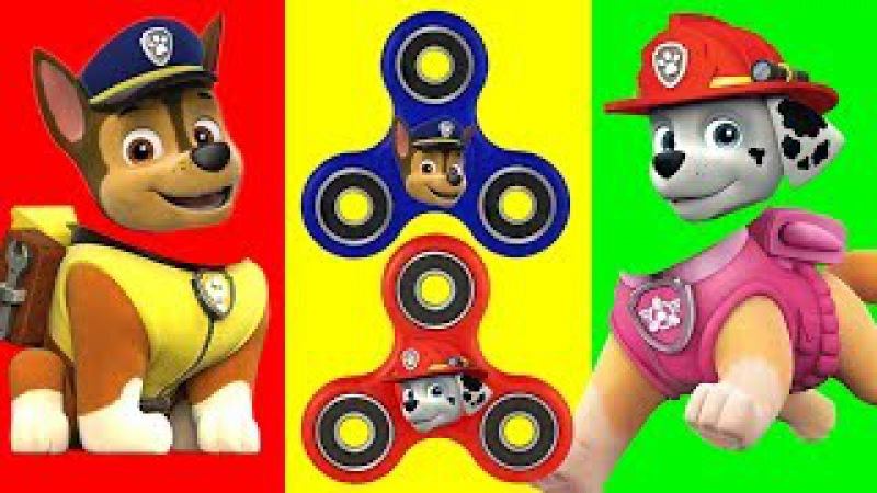Baby Learn Colors, Paw Patrol FIDGET SPINNERS, Kids smile Finger Family song, Learn Colours for Kids
