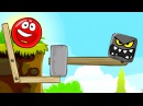 RED BALL 4 RED BALL vs. EVIL SQUARE game cartoon |IQKidsTV