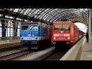 Výměna lokomotiv ve stanici Dresden Hbf ČD 371 vs DB 101