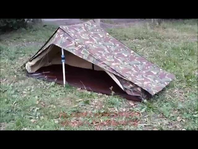 Обзор неубиваемой 2-х скатной палатки DPM, армии Нидерландов