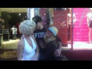 Charlie Zelenoff gropes a street performer