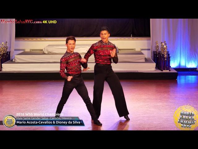 WSS16 Professional Male Same Gender Salsa World Champions Mario Acosta Cevallos Dioney da Silva