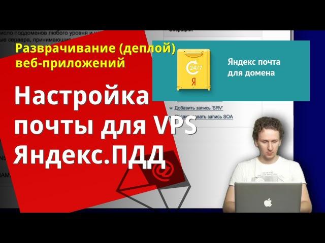 Яндекс почта для домена на VPS