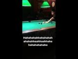 Kristen stays winning at life and losing at pool
