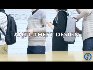 Anti-Theft USB Charging Travel Laptop Backpack