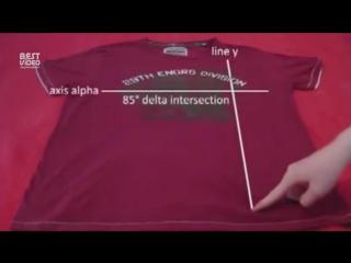 Как сложить футболку за 2-е секунды