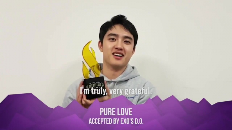 170427 D.O. - Win Best Featured Film (Pure Love) 5th Annual Drama Fever Awards