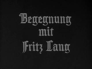Begegnung mit Fritz Lang (1963) Peter Fleischmann