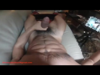 Hairy muscle hunk solo