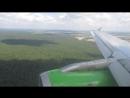 S7 Airbus A319 KRR-DME посадка в Домодедово