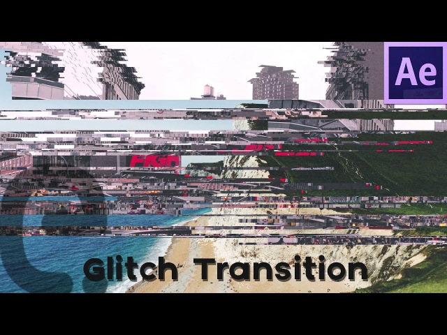 Slice Glitch Transition Pixel Sorting Look Motion Graphics After Effects Tutorial